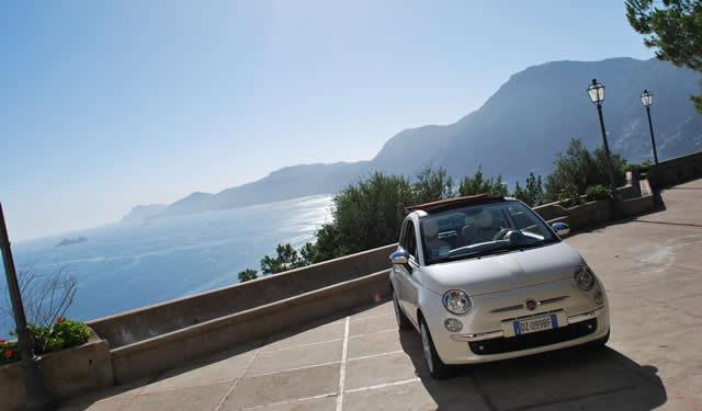 Amalfi Coast Car Rental Fiat 500 Rent Car Amalfi Car